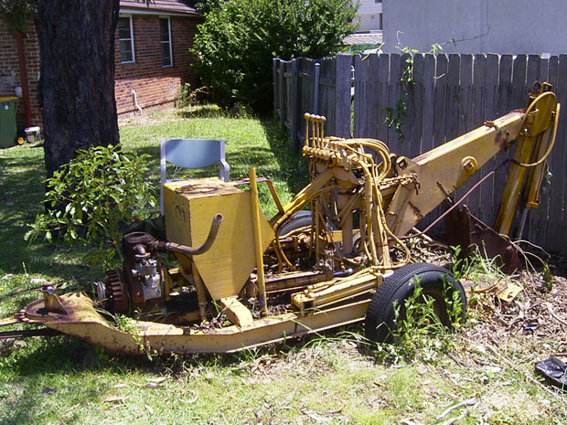 Barry's digger in unrestored state