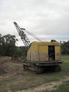 Ruston Bucyrus dragline