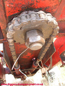 Gopher - slew chain and hydraulic rams