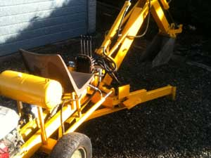 Homebuilt backhoe